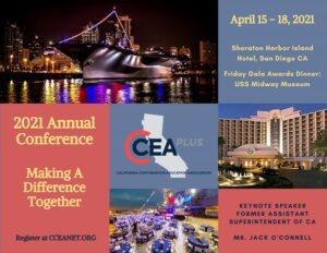 CCEA Plus Conference 2021 Flyer