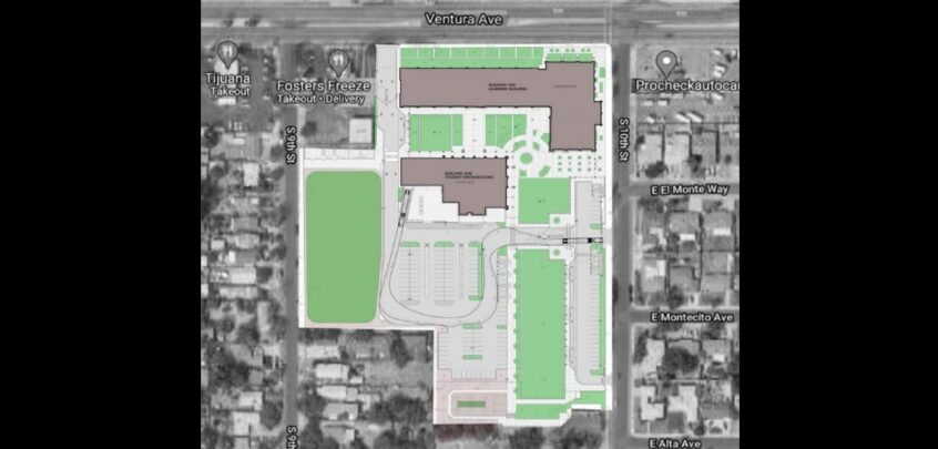 Fresno Unified's Planned Campus Map for New Alternative School