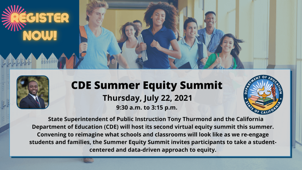 CDE Equity Summit 2021 (July 22)