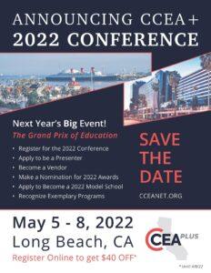 CCEA Plus Conference 2022 Flyer